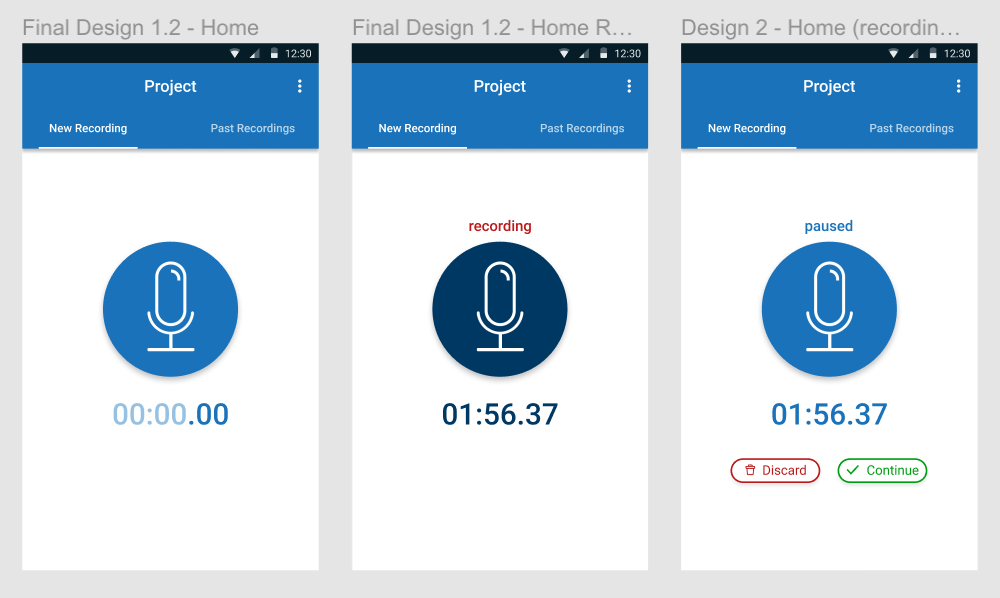 "Final design for the ""Voice"" app"