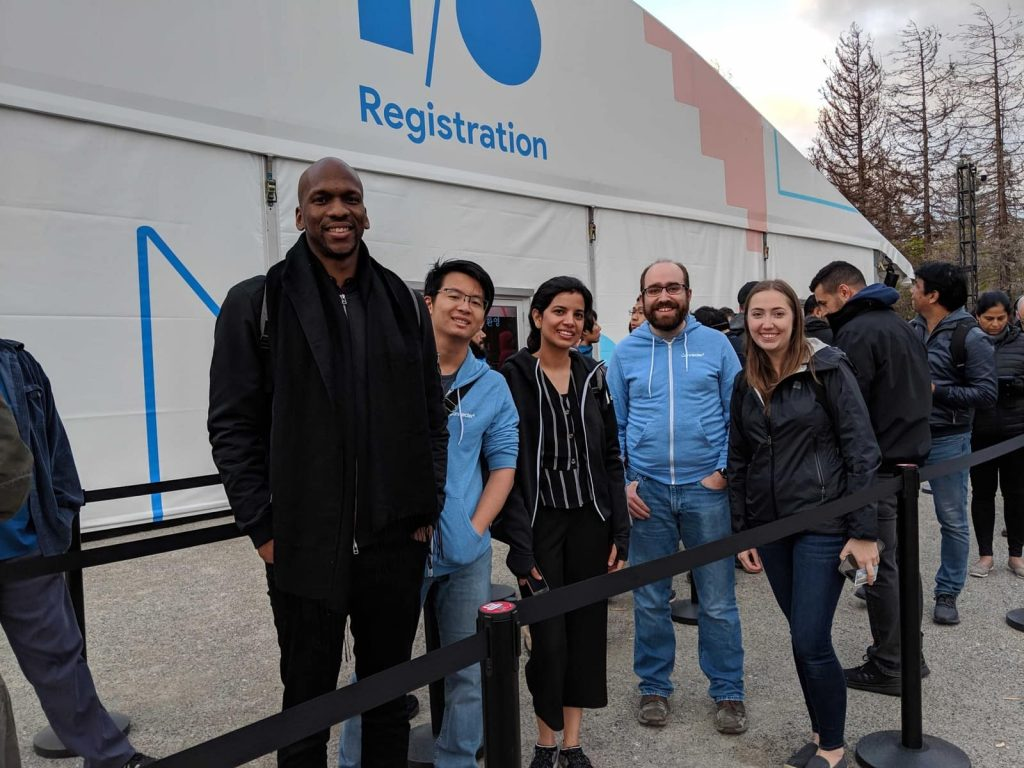 Connected employees at Google I/O registration