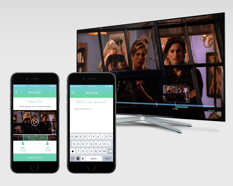 An example of the app Connected built to interact with viewers of TV shows using their Smart TV