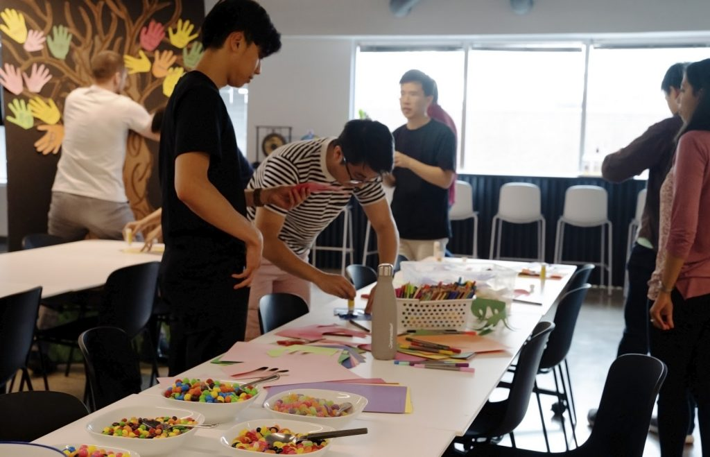 Some of our Connectors working on our Pride art installation
