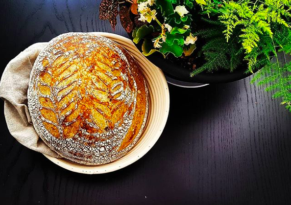 Tartine country sourdough, 95% hydration. Brought to you by Stephen Khuu.