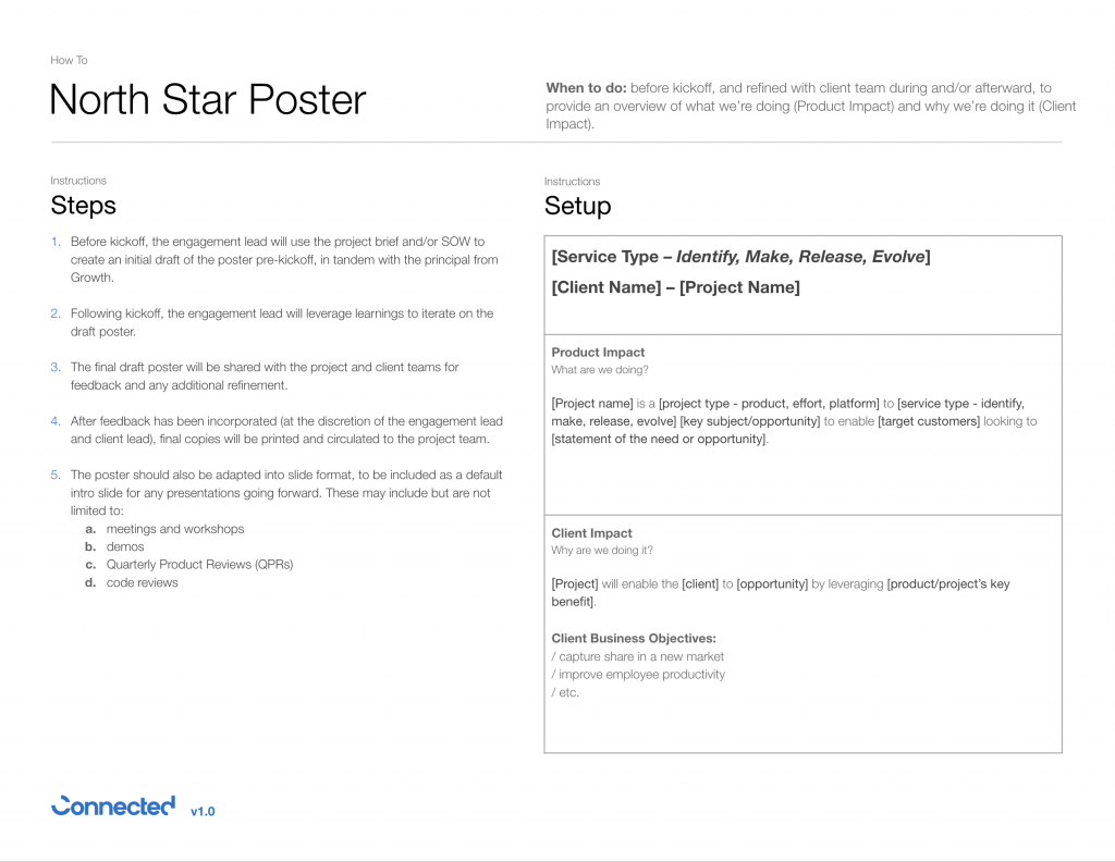 North Star poster exercise
