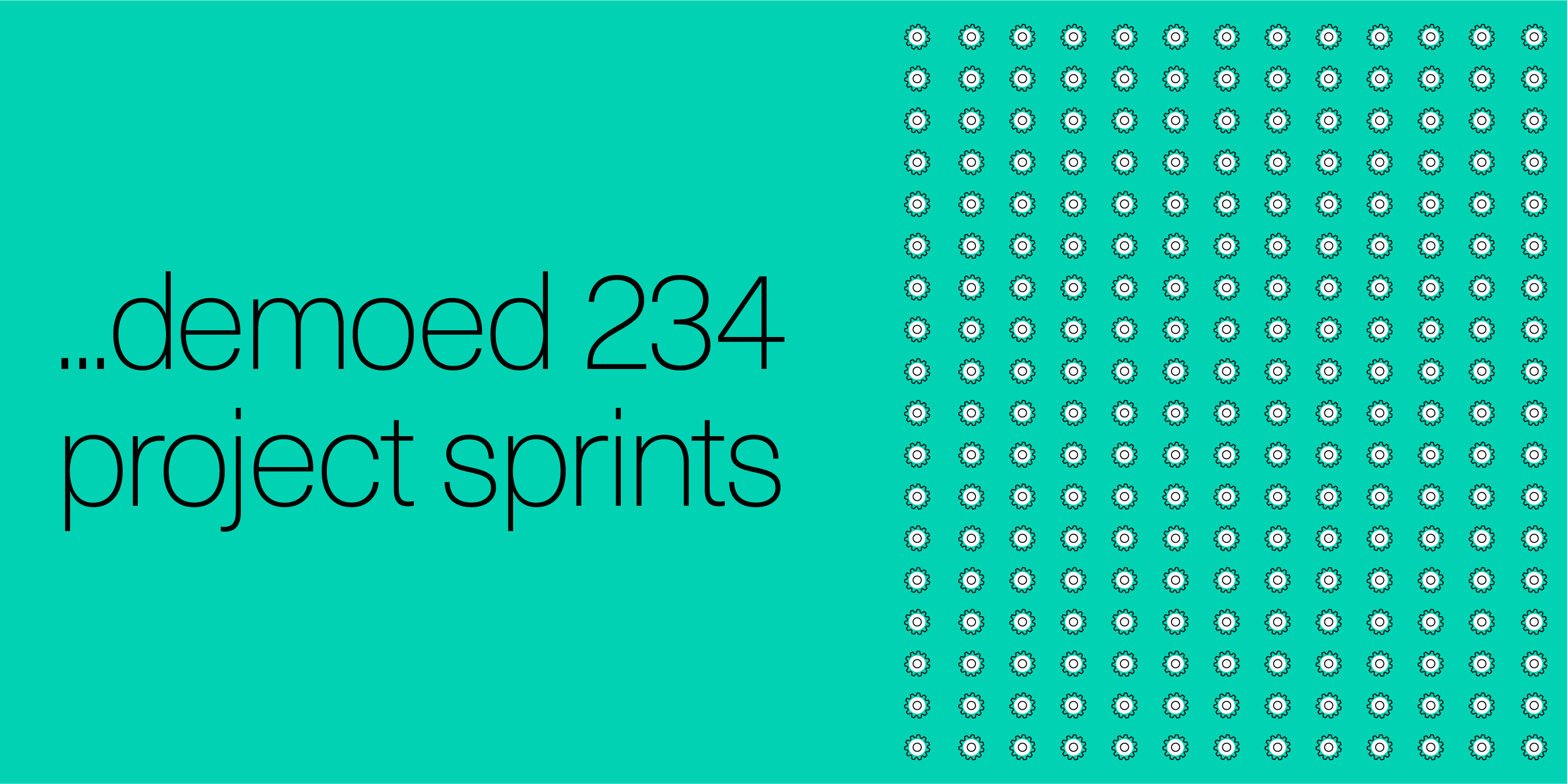 demoed 234 project sprints
